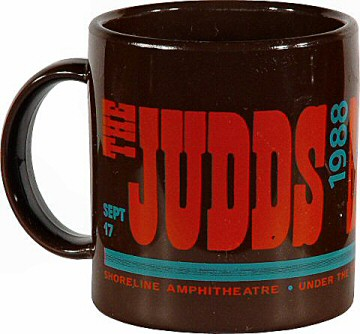 The Judds Vintage Mug from Shoreline Amphitheatre on 17 Sep 88: Mug