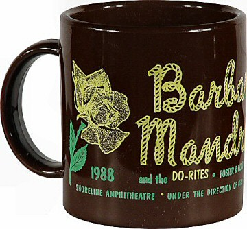 Barbara Mandrell Vintage Mug from Shoreline Amphitheatre on 23 Sep 88: Mug