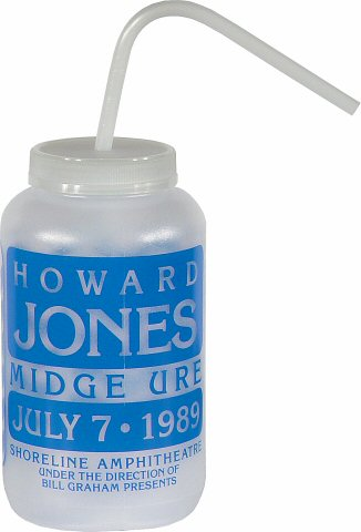 Howard Jones H2O Bottle from Shoreline Amphitheatre on 07 Jul 89: Waterbottle