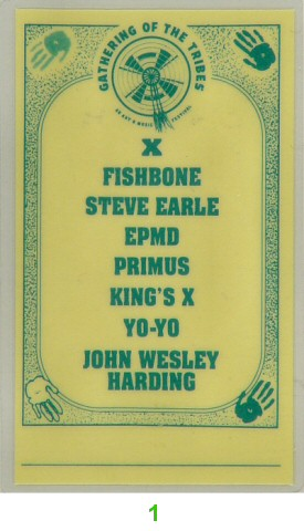 X Laminate from Shoreline Amphitheatre on 07 Jul 91: Laminate 1