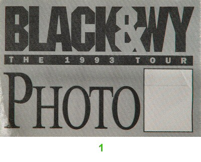 Clint Black Backstage Pass from Shoreline Amphitheatre on 08 Oct 93: Pass 1