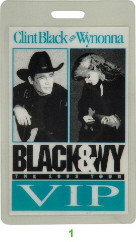 Clint Black Laminate from Shoreline Amphitheatre on 08 Oct 93: Laminate 1