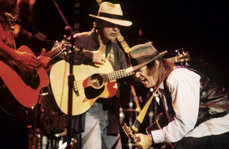 Neil Young & Crazy Horse BG Archives Print from Shoreline Amphitheatre on 01 Oct 94: 11x14 C-Print