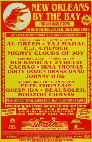 "Al Green Poster from Shoreline Amphitheatre on 16 Jun 95: 14 3/8"" x 22"""