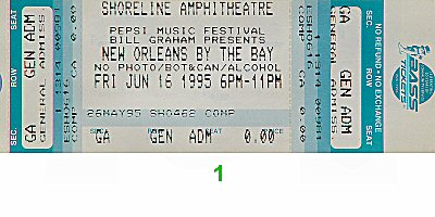 Al Green 1990s Ticket from Shoreline Amphitheatre on 16 Jun 95: Ticket One
