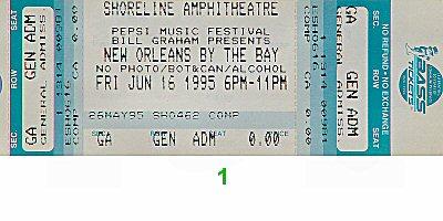 Al Green 1990s Ticket from Shoreline Amphitheatre on 16 Jun 95: Ticket One