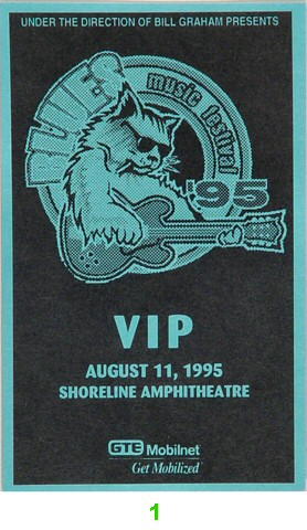 B.B. King Laminate from Shoreline Amphitheatre on 11 Aug 95: Laminate 1