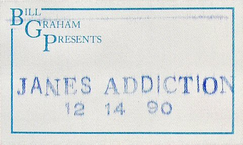 Jane's Addiction Backstage Pass from San Jose State Event Center on 14 Dec 90: Pass 1