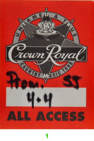 Mark Chesnutt Backstage Pass from San Jose State Event Center on 04 Apr 98: Pass 1