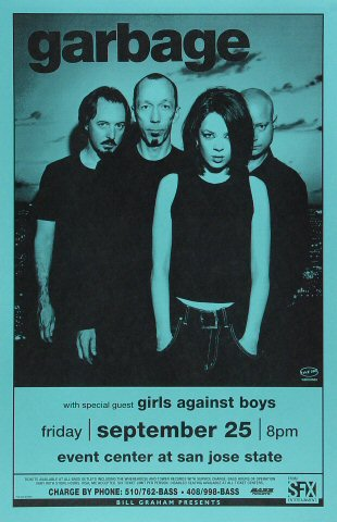 "Garbage Poster from San Jose State Event Center on 25 Sep 98: 11"" x 17"""