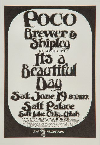 "Poco Handbill from Salt Palace on 19 Jun 71: 5 1/2"" x 8"""