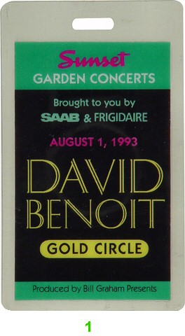 David Benoit Laminate from Sunset Magazine Gardens on 01 Aug 93: Laminate 1