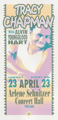 "Tracy Chapman Handbill from Arlene Schnitzer Concert Hall on 23 Apr 00: 4 1/4"" x 8 5/8"""