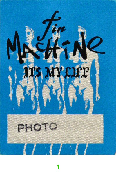 Tin Machine Backstage Pass from Toad's Place on 19 Nov 91: Pass 1