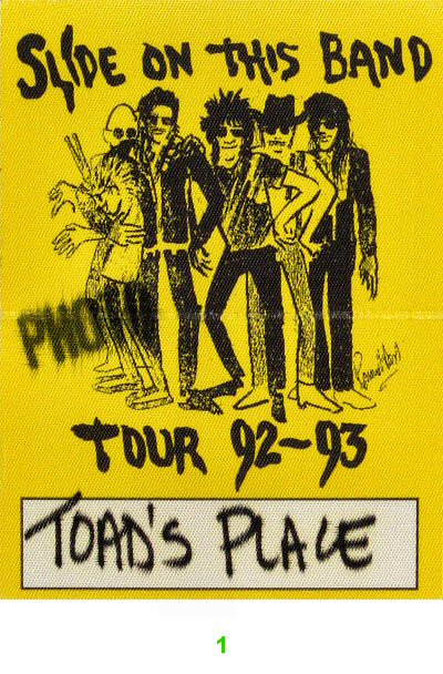 Ron Wood Backstage Pass from Toad's Place on 30 Oct 92: Pass 1