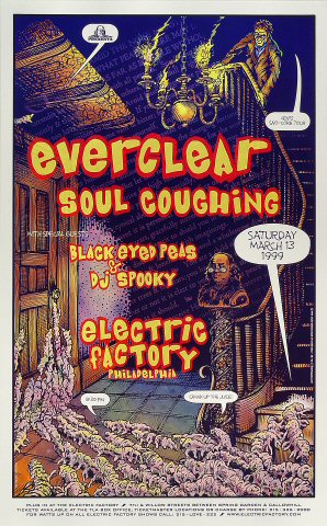 "Everclear Poster from Electric Factory on 13 Mar 99: 13 1/8"" x 21 1/16"""