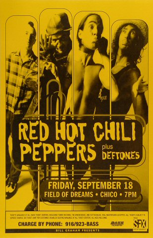 "Red Hot Chili Peppers Poster from Field of Dreams on 18 Sep 98: 11"" x 17"""