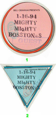 The Mighty Mighty Bosstones Backstage Pass from Trocadero Transfer on 16 Jan 94: Pass 2