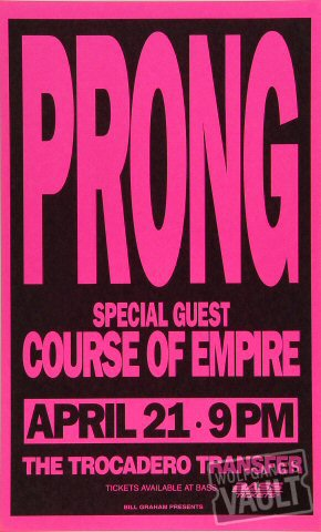 "Prong Poster from Trocadero Transfer on 21 Apr 94: 8 1/2"" x 14"""