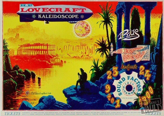 "H.P. Lovecraft Poster from Sound Factory on 23 Aug 68: 14"" x 19 3/4"""