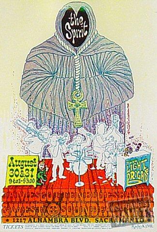 "Spirit Handbill from Sound Factory on 30 Aug 68: 4"" x 5 7/8"""