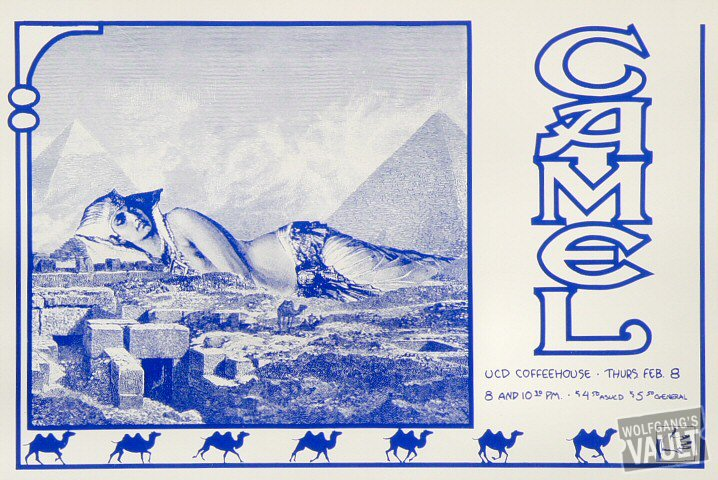 "Camel Poster from UCD Coffeehouse on 08 Feb 79: 9"" x 13 1/4"""