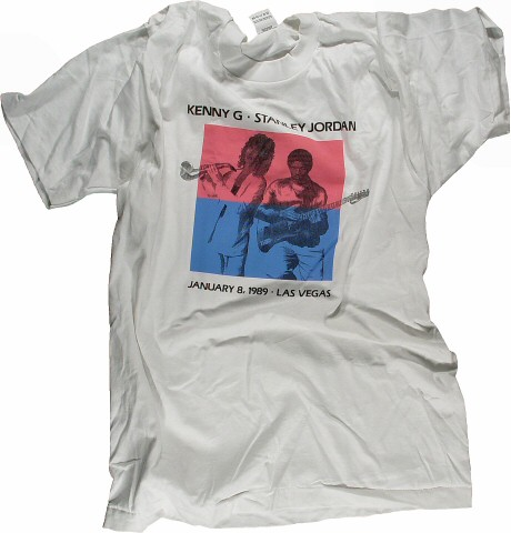 Kenny G Men's Vintage T-Shirt from Artemus Ham Hall on 08 Jan 89: Large