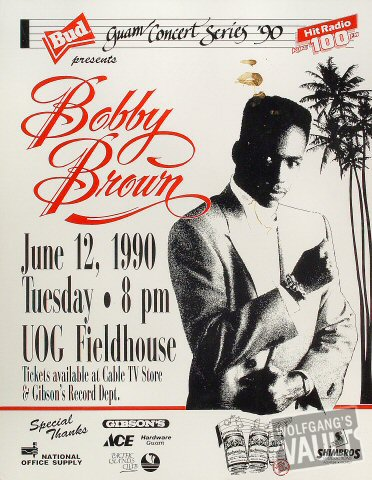 "Bobby Brown Poster from University of Guam on 12 Jun 90: 17"" x 22"""