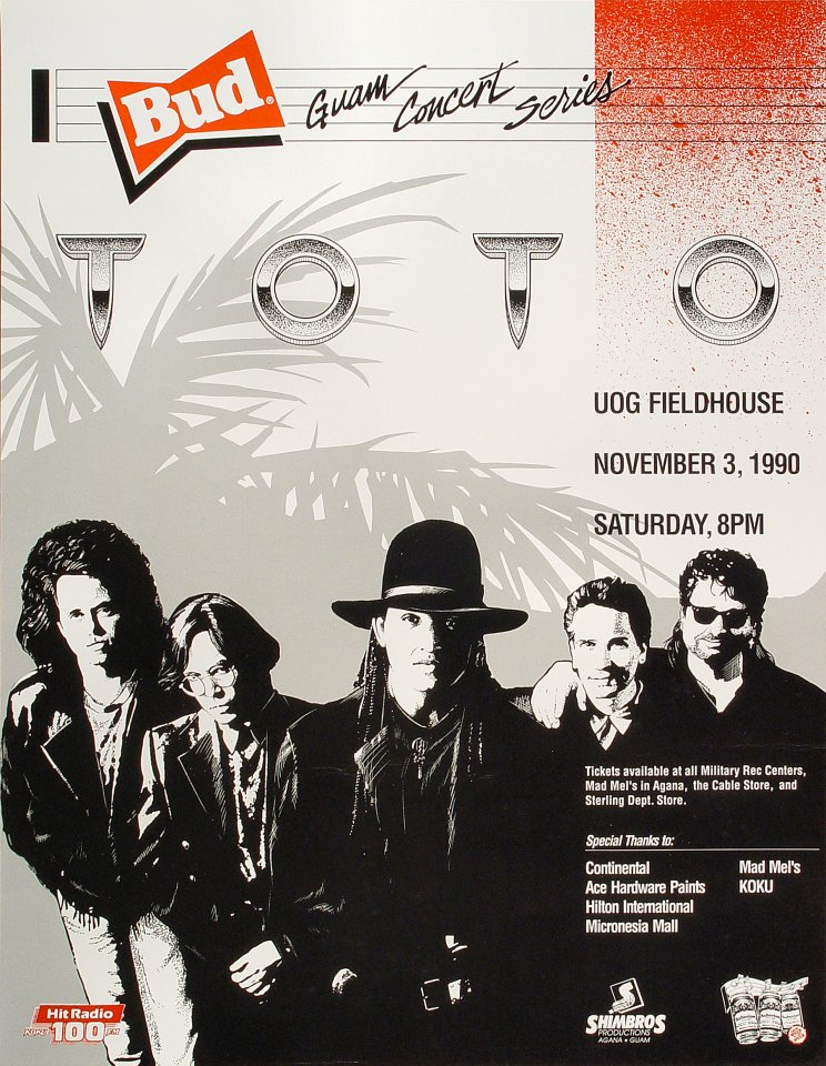 "Toto Poster from University of Guam on 03 Nov 90: 17"" x 22"""