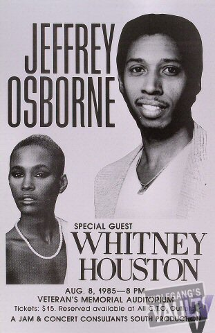 "Jeffrey Osborne Poster from Veteran's Memorial Auditorium Des Moines on 08 Aug 85: 11"" x 17"""