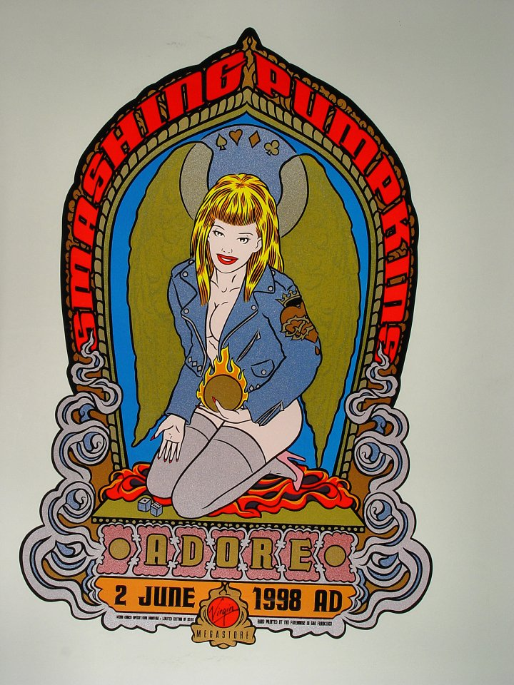 "The Smashing Pumpkins Poster from Virgin Megastore on 02 Jun 98: 15 3/8"" x 23 1/8"""