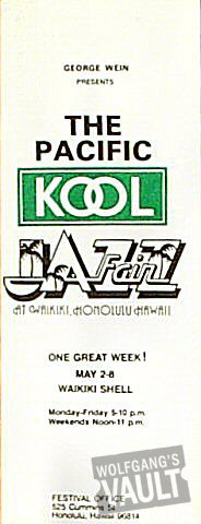 "Al Green Program from Waikiki Shell on 02 May 77: 3 1/4"" x 8 1/2"""