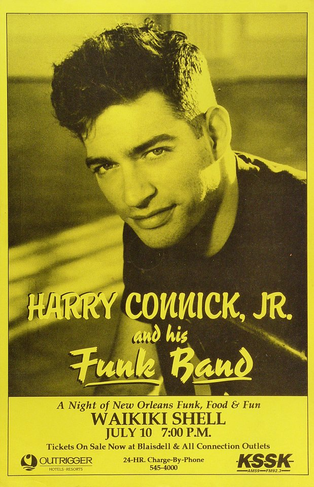 "Harry Connick Jr. Poster from Waikiki Shell on 10 Jul 95: 11"" x 17"""