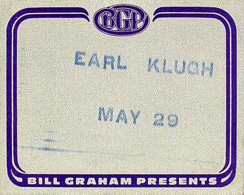 Earl Klugh Backstage Pass from Warfield Theatre on 29 May 85: Pass 1