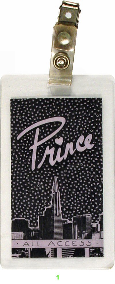 Prince Laminate from Warfield Theatre on 23 May 86: Laminate 1