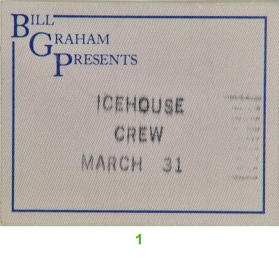 Icehouse Backstage Pass from Warfield Theatre on 31 Mar 88: Pass 1