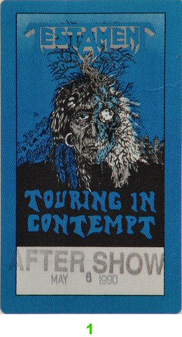 Testament Backstage Pass from Warfield Theatre on 06 May 90: Pass 1