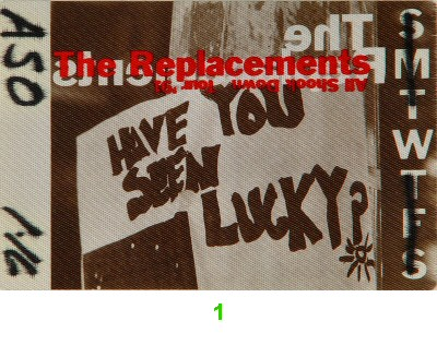 The Replacements Backstage Pass from Warfield Theatre on 16 Jan 91: Pass 1