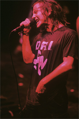 Eddie Vedder BG Archives Print from Warfield Theatre on 15 May 92: 11x14 C-Print
