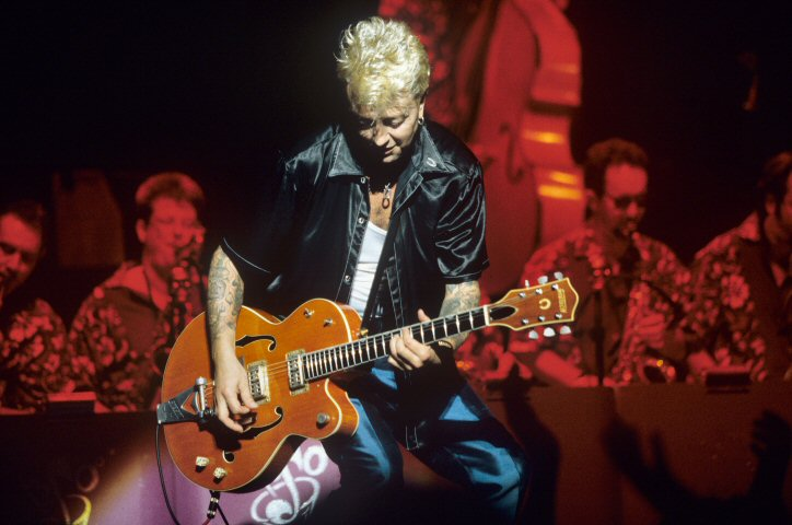 Brian Setzer BG Archives Print from Warfield Theatre on 14 Aug 98: 11x14 C-Print