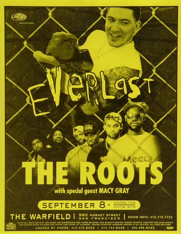 "Everlast Handbill from Warfield Theatre on 08 Sep 99: 8 1/2"" x 11"""