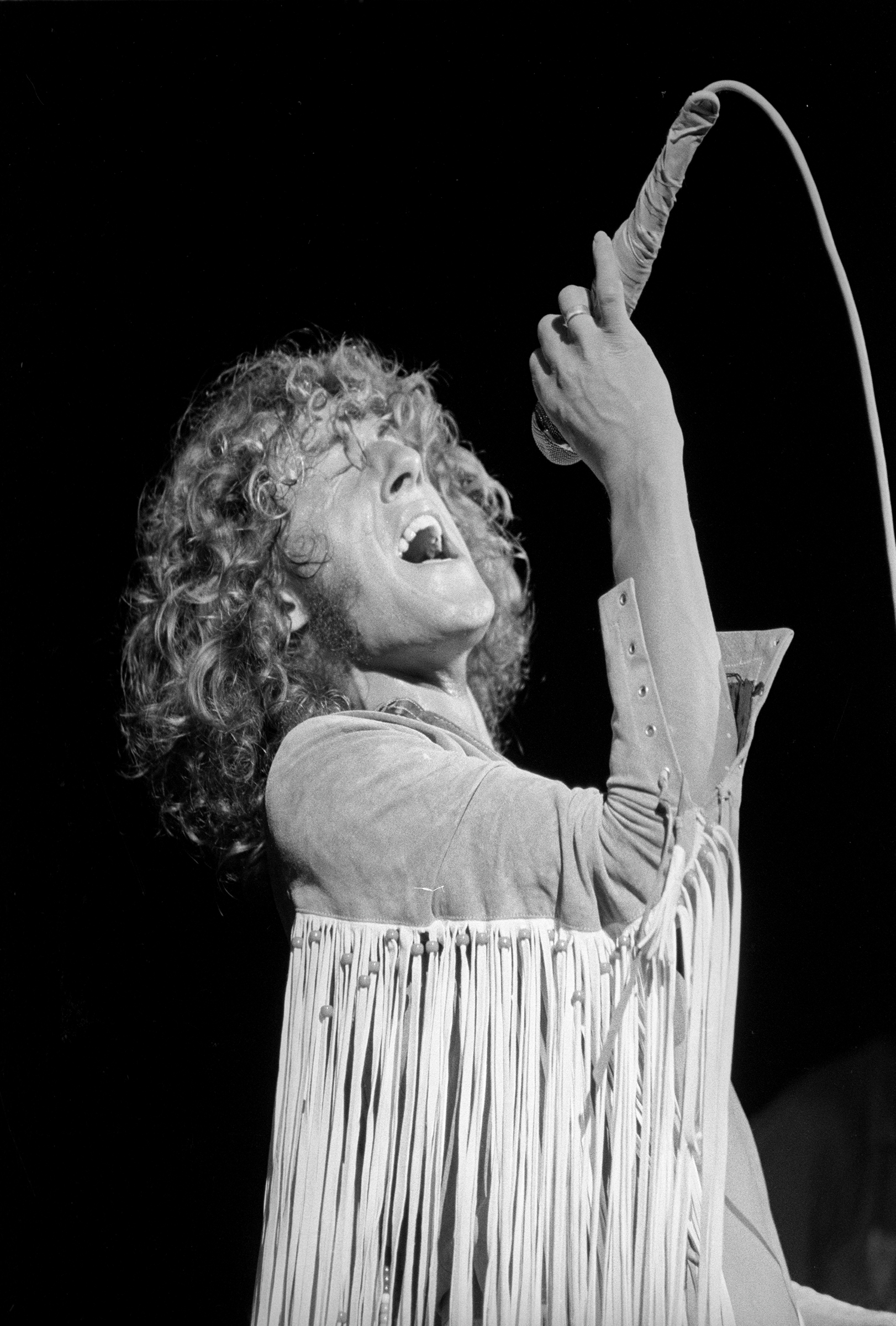 Roger Daltrey Fine Art Print from Woodstock on 15 Aug 69: 16x20 Silver Gelatin
