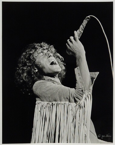 Roger Daltrey Premium Vintage Print from Woodstock on 15 Aug 69: 11x14 Silver Gelatin Signed
