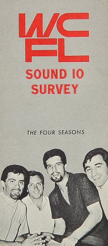 "The Four Seasons Program from WCFL on 28 Sep 67: 2 3/8"" x 5 1/2"""