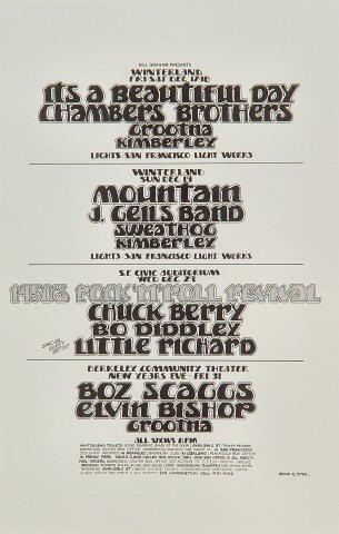 "It's a Beautiful Day Handbill from Winterland on 17 Dec 71: 5 1/2"" x 8 1/2"""