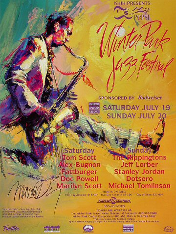 "Tom Scott Poster from Winter Park Resort on 19 Jul 97: 18"" x 24"""