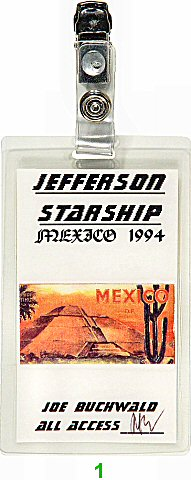 Jefferson Starship Laminate  on 25 Feb 94: Laminate 1
