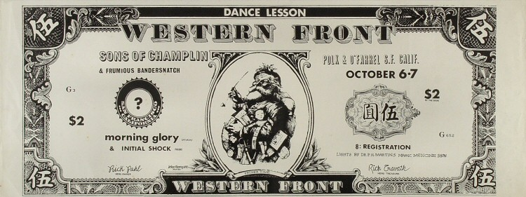 "The Sons of Champlin Poster from Western Front Dance Academy on 06 Oct 67: 9 1/2"" x 25"""