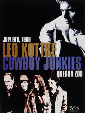 "Leo Kottke Poster from Oregon Zoo on 09 Jul 99: 13"" x 17 1/8"""