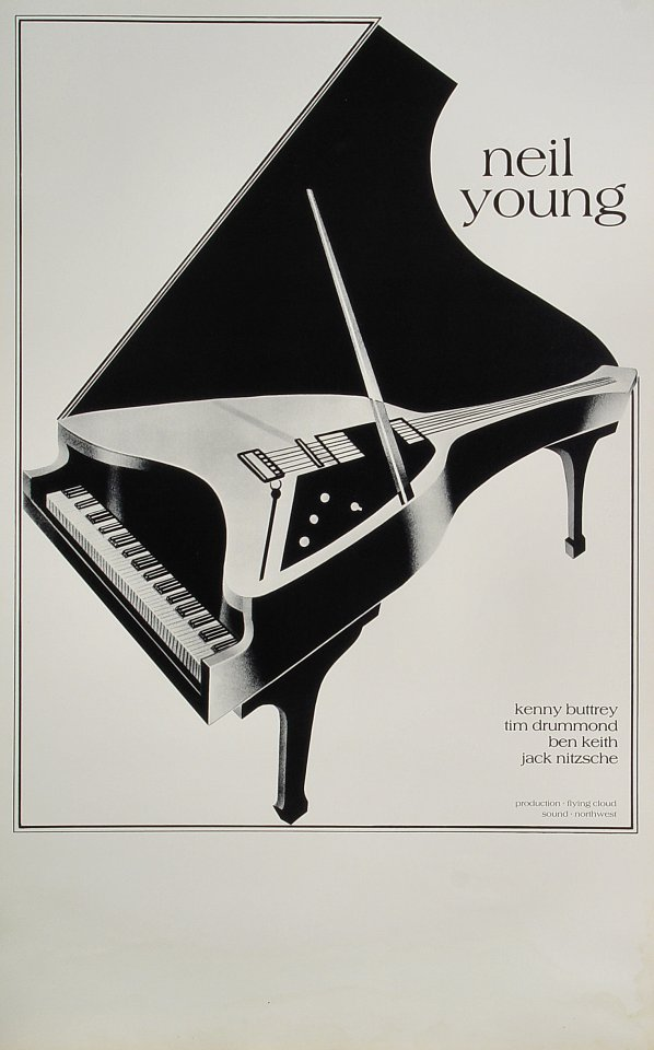 """Neil Young Poster  : 14"""" x 22"""""""